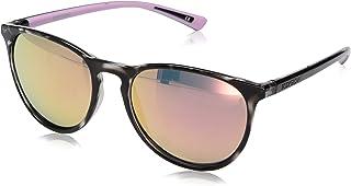 Body Glove Women`s Cloudbreak Mirror Polarized Round Sunglasses, Light Pale Pink Crystal, 55 mm