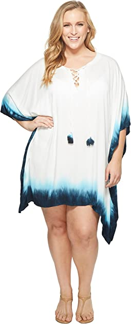 Plus Size St. Tropez Lace-Up Tunic Cover-Up