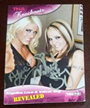 Angelina Love Velvet Sky Signed 2009 Impact TNA Card Knockouts #106 Auto - Tristar Productions Certified