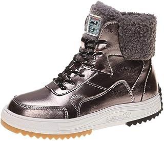 HLDJ Weomens Cotton Shoes Sport Plus Vélicité Plat Bottes Neige Casual Sneaker Confortable Wear Short pour L'école Travail...