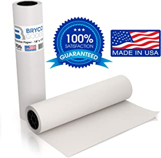 Bryco Goods White Kraft Butcher Paper Roll - 18 inch x 175 Feet (2100 inch) - Food Grade FDA Approved – Great Smoking Wrapping Paper for Meat of All Varieties – Made in USA – Unwaxed and Uncoated
