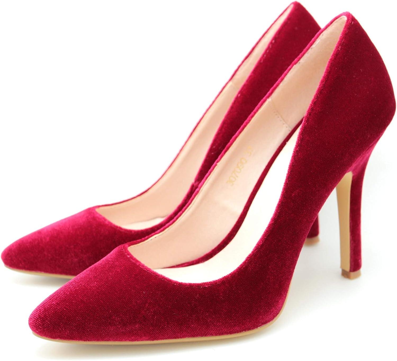 PRODUIT PARFAIT Pointed Toe Velvet High Heel