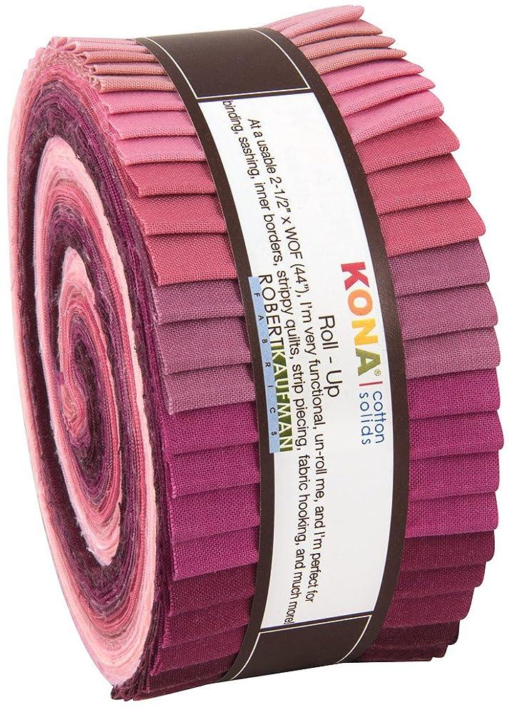 Robert Kaufman Kona Cotton Solids Powder Room Jelly Roll Up, 40 2.5x44-inch Cotton Fabric Strips