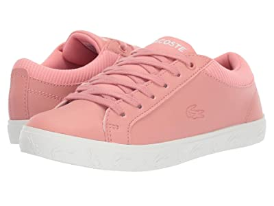 Lacoste Kids Straightset 319 4 (Little Kid) (Pink/Off-White) Kid