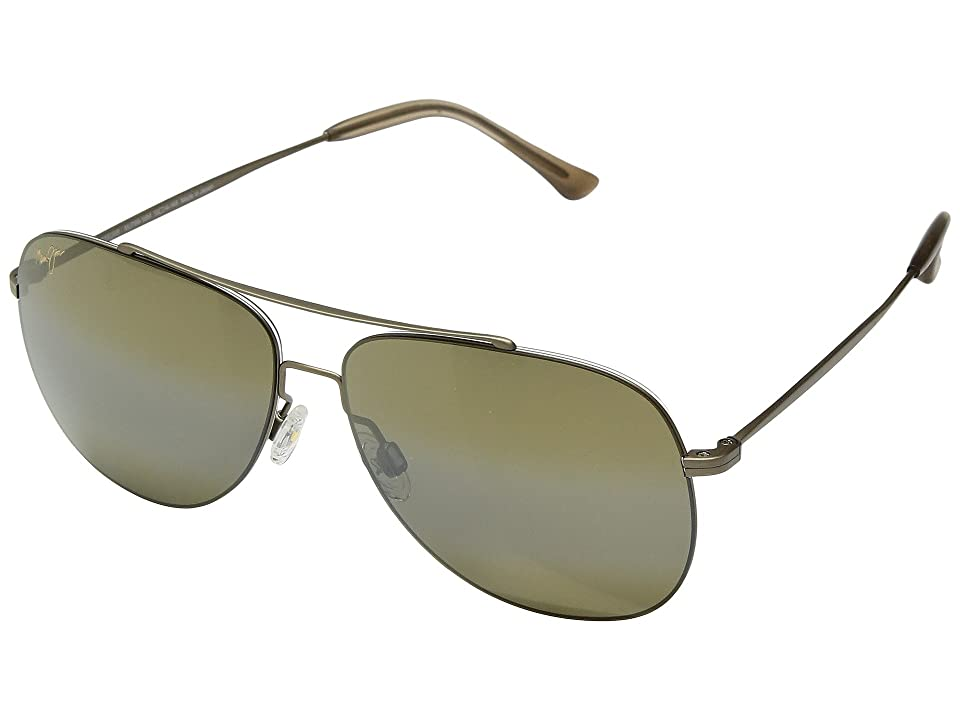 Maui Jim Cinder Cone (Matte Gold/HCL Bronze) Athletic Performance Sport Sunglasses