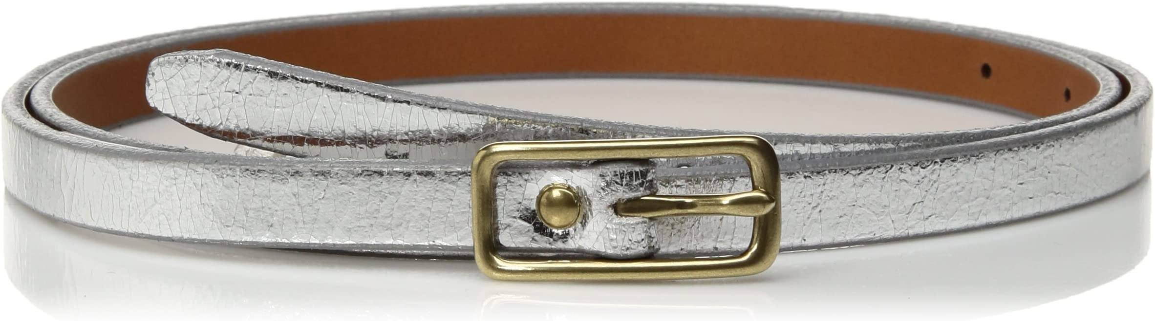 Circa Leathergoods Women's Crackle Metallic Belt