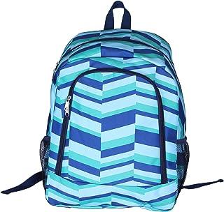 NBN-36-GB Big Backpack Blue Geometric Pattern Design
