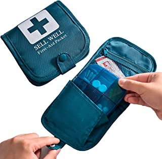 CFQF Large Pill Boxes Organizer Portable Pill Case for Purse Or Packet,Medication Container with First Aid Non-Woven Bag