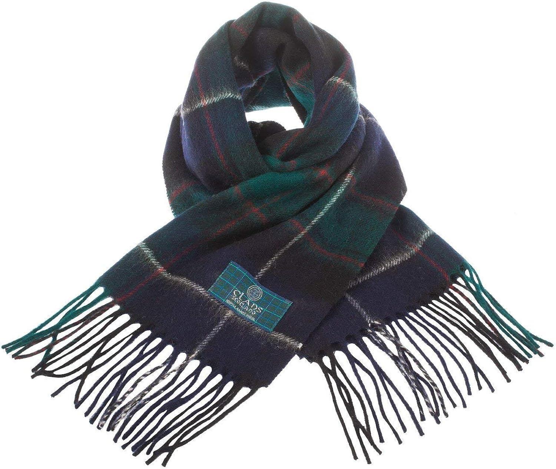 Clans Of Scotland Pure New Wool Scottish Tartan Scarf Macrae Hunting (One Size)
