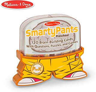 Melissa & Doug Smarty Pants Preschool Card Set (Educational Trivia Card Game, Developed with Educators, 120 Cards)