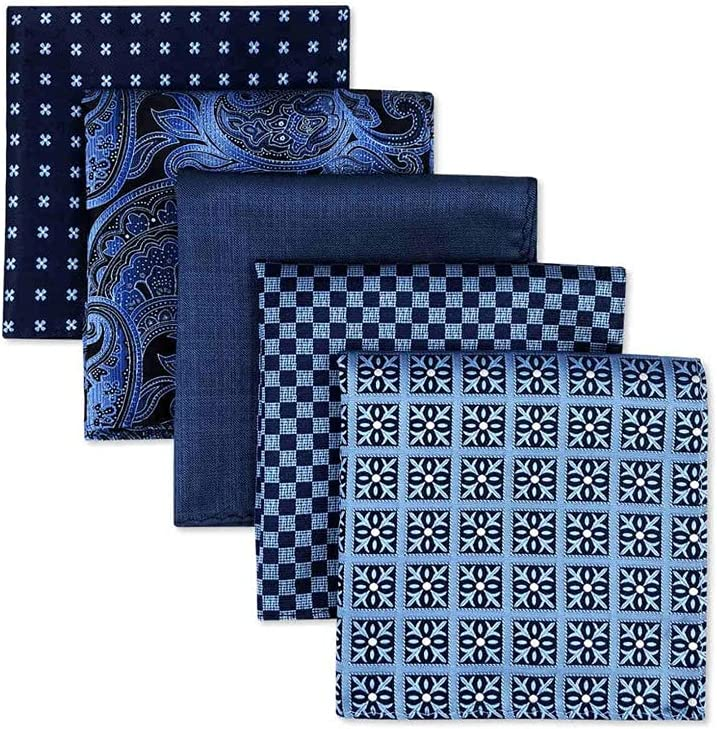 TWDYC 2021new shipping free Courier shipping free shipping 5 Pieces Colorful Assorted Silk Square Pocket Mens Classic