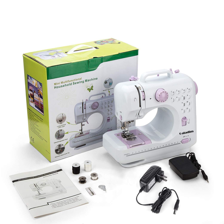 Máquina de coser -12 tipos de puntadas, pedal eléctrico de doble ...