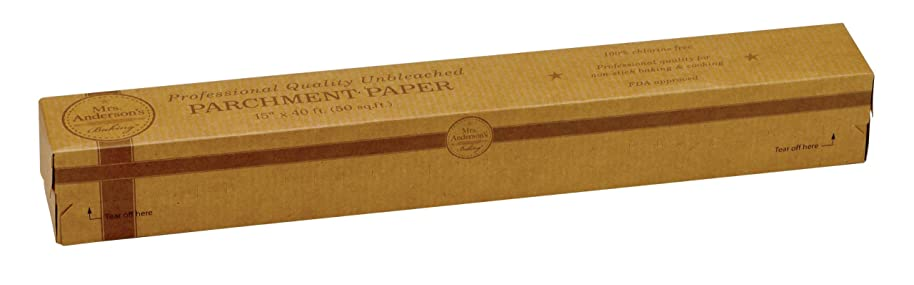 Mrs. Anderson's Baking 32000 Non-Stick Parchment Paper, Professional Quality, 50-Square-Feet, Set of 2, Unbleached