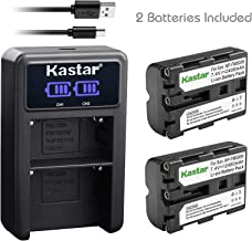 Kastar Battery X2 & LCD Dual Charger for Sony NP-FM500H Alpha SLT A57 A58 A65 A77 A99 A77V A77II DSLR-A100 A200 A350 A450 A500 A550 A700 A850 A900 Alpha a99 II CLM-V55 DSLR a100 a200 a560 a580 a58