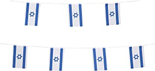 TSMD Israel Flag, 100 Feet Israeli Jewish Flag National Country World Pennant Flags Banner,Party Decorations for Grand Opening,Olympics,Bar,School Sports Events,International Festival Celebration