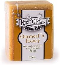 Handmade Herbal 100% Raw Goat Milk Oatmeal 'n Honey Soap (4.5oz./Bar)