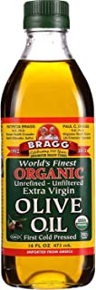 Bragg Olive Oil - USDA Organic - Extra Virgin - Unrefined - Unfiltered - From Greece - Non GMO - 16 oz (Pack of 6)