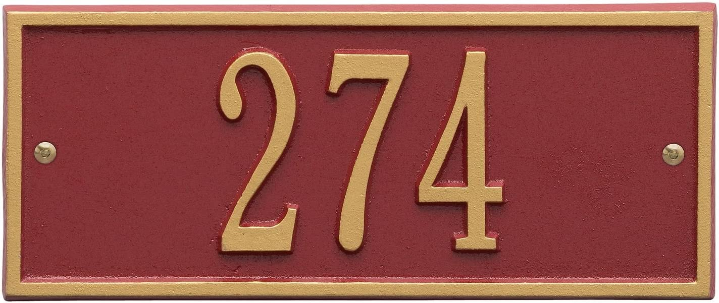 Albuquerque Mall 1 year warranty Whitehall Personalized Cast Metal Address Hartfor - Plaque Small