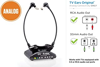 TV Ears Original Wireless Headsets System, TV Hearing Aid Devices works best with Analog..