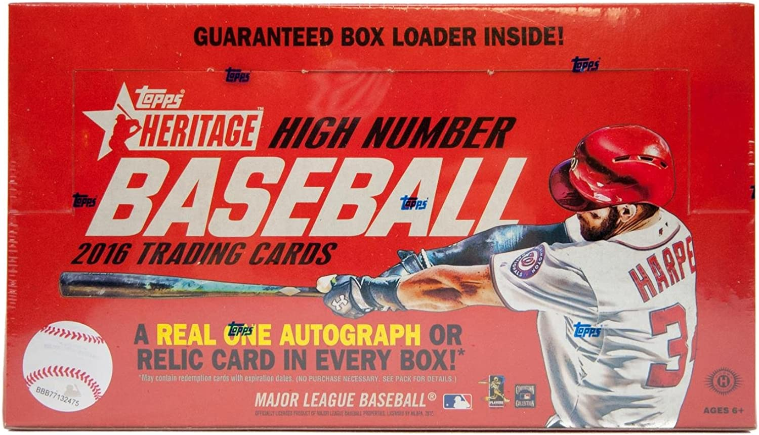 2016 Topps Heritage High Number Baseball Hobby Box