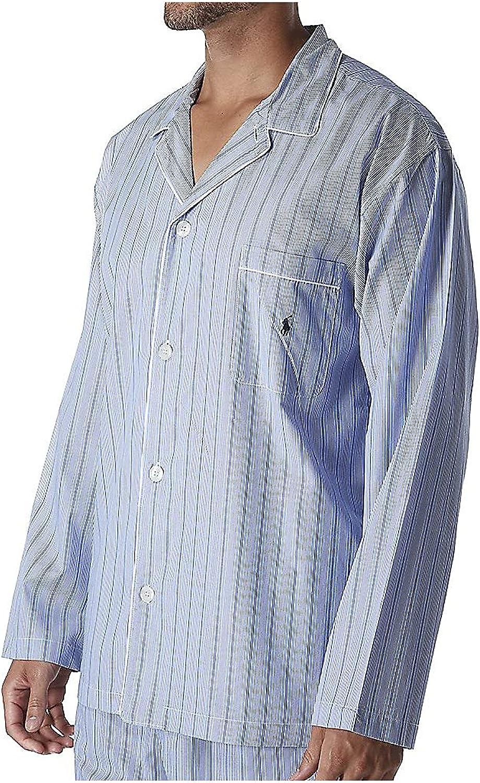 Polo Ralph Lauren Men's Tall Man Woven Cotton Long Sleeve Pajama Top RY25RT