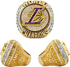 Gr/ö/ße 8 ~ 14 9 Fans Souvenirs Bewegung Ring 23 Little Emperor Mvp Replica Ring FGRGH 2020 Los Angeles Laker LeBron James New Basketball Championship Ring