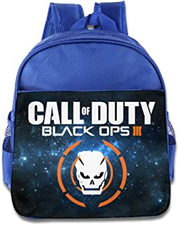 Duty Call Black OPS 3 Kids School RoyalBlue Backpack Bag