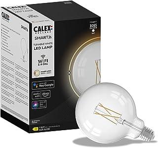 Calex Smart Home - Wifi Led lamp - Globe Helder glas - Ø125mm - White ambience - E27 fitting - Energielabel D