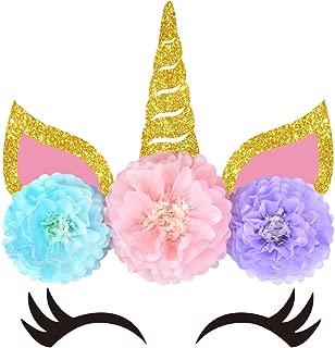 KREATWOW Unicorn Backdrop Party Wall Decorations - Unicorn Flower Backdrop for Girls Birthday Baby Shower