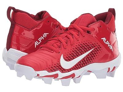 Nike Kids Alpha Menace 2 Shark Football (Toddler/Little Kid/Big Kid) (University Red/White/Team Red/Team Red) Kids Shoes