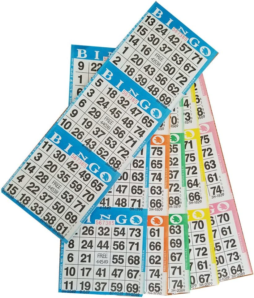 Bingo Paper Game Cards - 3 cards 5 New popularity sheets 5% OFF she 100 of books