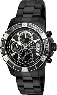 Invicta Men's Pro Diver Quartz Watch with Stainless-Steel Strap, Black, 22 (Model: 22417)