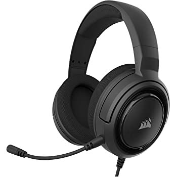 Corsair HS35 - Stereo Gaming Headset - Memory Foam Earcups - Headphones work with PC, Mac, Xbox One, PS4, Switch, iOS and Android – Carbon