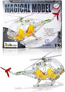 3 Bees & Me STEM Helicopter Building Toy Kit - Educational Construction Model Kit for Boys and Girls Age 8 9 10 11 12 Years Old - Unique and Fun Gift for Older Kids Age 8 and Up