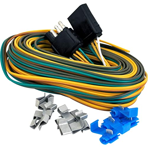 Trailer Wiring Harness Kit: Amazon.com on trailer mounting brackets, trailer generator, trailer brakes, trailer hitch harness, trailer plugs, trailer fuses,