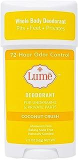 Lume Natural Deodorant – Underarms and Private Parts – Aluminum-Free, Baking..