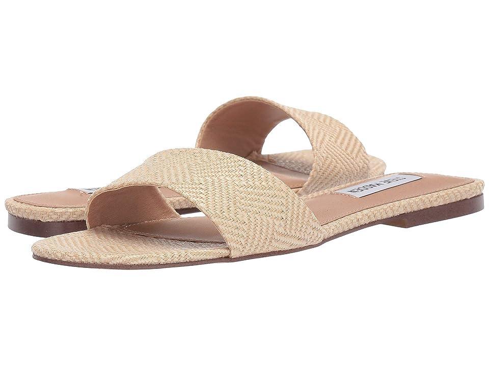 Steve Madden Bev Flat Sandal (Natural Raffia) Women