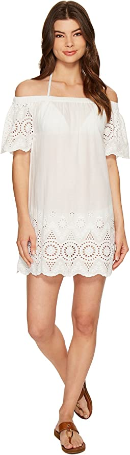 LAUREN Ralph Lauren Off Shoulder Shift Dress Cover-Up