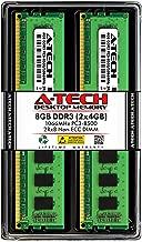 A-Tech 8GB DDR3 1066MHz Desktop Memory Kit (2 x 4GB) PC3-8500 Non-ECC Unbuffered DIMM 240-Pin 2Rx8 1.5V Dual Rank Computer RAM Upgrade Sticks