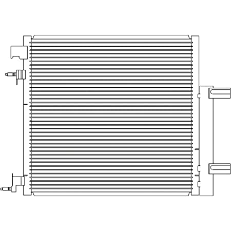 OE Replacement A//C Condenser CHEVROLET VAN CHEVY EXPRESS 2009-2016 Partslink GM3030250