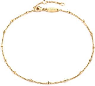 Gold Star Charm Anklet,14K Gold Plated Boho Beach Dainty...