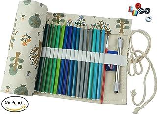 Cre-go tela hecha a mano lápiz Wrap Roll up bolsa de