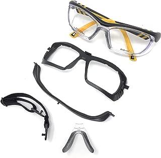 OnGuard Rx Safety Eyewear Black Yellow w/Full Dust Dam OG225S 55mm Small