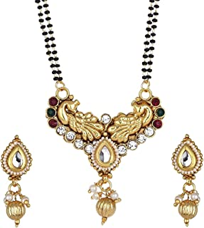 BANDISH Gold Plated Copper Look Traditional Kalash Mangalsutra with Chain for Women