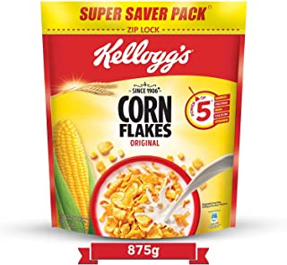 Kellogg's Corn Flakes Original, High in Iron, High in B Group Vitamins, Breakfast Cereals, 875g Pack