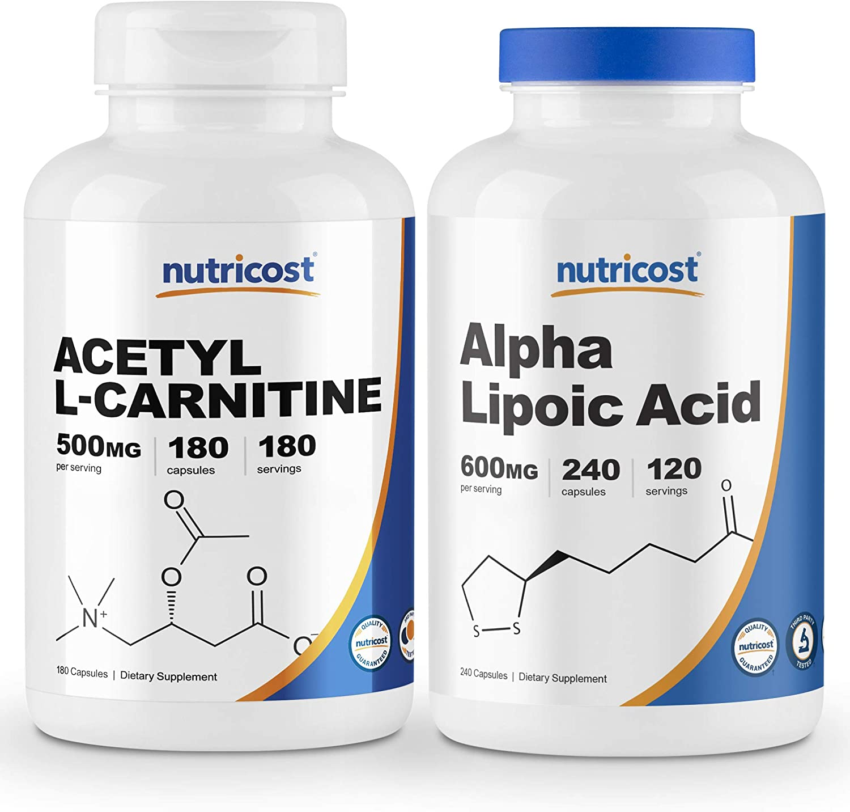 Nutricost Alpha Lipoic Acid 600mg 240 Dallas Mall Caps NEW Acetyl L-Carnitine