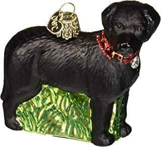 Old World Christmas Glass Blown Ornament Standing Black Lab