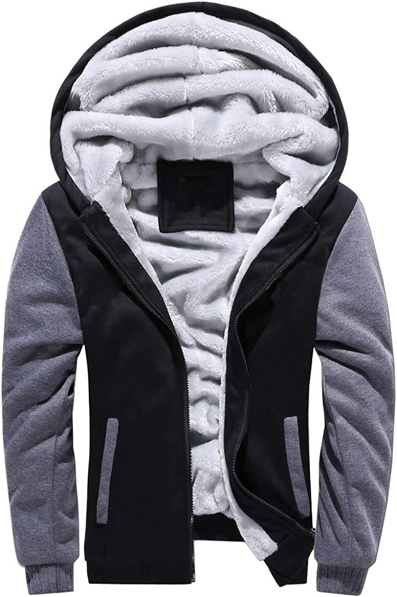 Baonmy Men's Casual Winter Fleece Shipping included Zip Jackets Hoodies Pull Lined Same day shipping