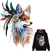 ARTEM Colorful Fox Iron-on Patches Appliques for Clothes T-Shirt Decoration Decals Heat Transfer Stickers with Waterpoof A-Level Washable Patch for DIY Bags, T-Shirt, Jeans, Coats