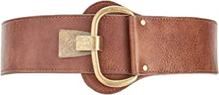 Women's Brown Faux Leather Distressed Hook Belt